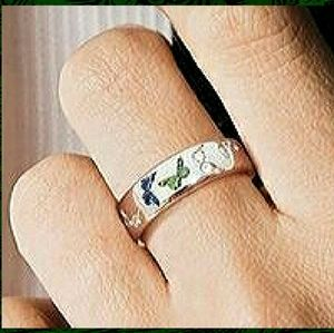 Sz7 925 Silver Butterfly Ring